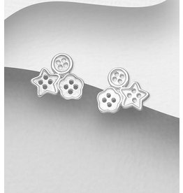 Sterling Studs-Sterling Silver Buttons