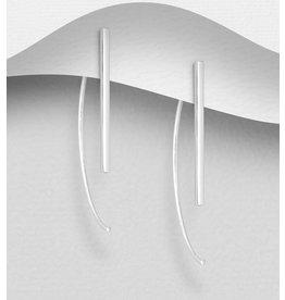 Sterling Sterling Silver Bar Hook Earrings