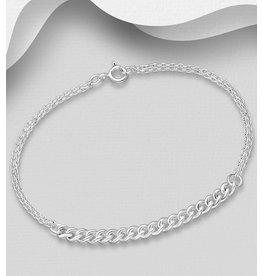 Sterling Sterling Silver Chain Bracelet