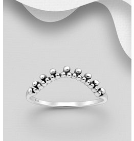 Sterling Ring-Sterling Silver Oxidized Ball Ring