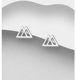 Sterling Studs-Double Triangles