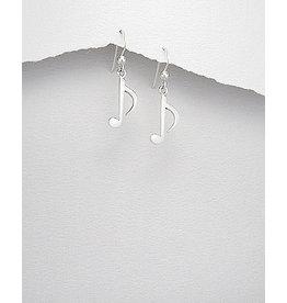 Sterling Sterling Music Note Earrings