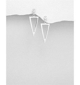 Sterling Sterling Triangle Dangle Earrings