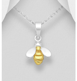 Sterling Gold Plated Sterling Bee Necklace