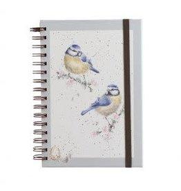 WRENDALE Spiral Bound Notebook - Bluetits