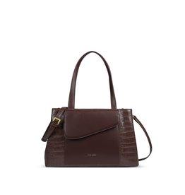 Pixie Mood Gracie Tote Handbag-Brown Mock Croc