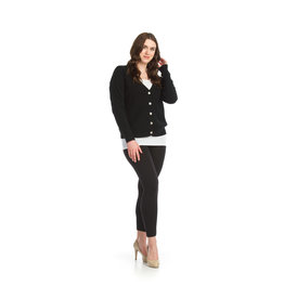 Papillon Dee- Button Front Cardigan in Black