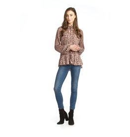 Papillon Kennedy-Spotted Pleated Blouse