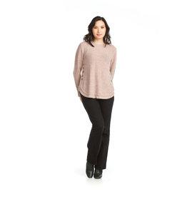 Papillon Nora-Shirt Hem Sweater/Blush