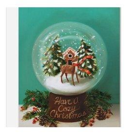 Janet Hill Studio Christmas Doe Globe Card