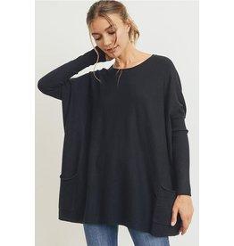 Nicole-Oversized Sweater in Black