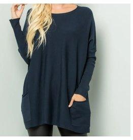 Nicole-Oversized Sweater in Navy