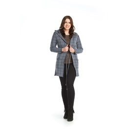 Papillon Roslyn-Plaid Knit Hooded Jacket (more colours)