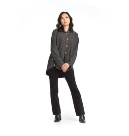 Papillon Candace-Hooded Button Up Jacket w/Pockets