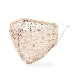 WeddingStar Adult Face Mask - Champagne Sequin