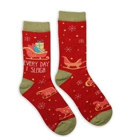 Karma Holiday Socks-Sleigh