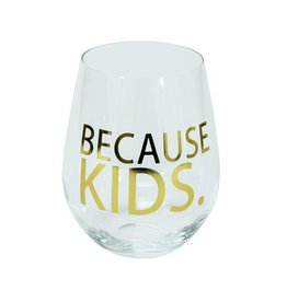 Mary Square Stemless Wine - Because Kids