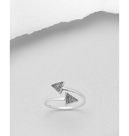 Sterling Ring- Double Triangle