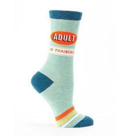 Blue Q Crew Socks-Adult in Training