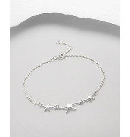 Sterling Bracelet- Triple Starfish