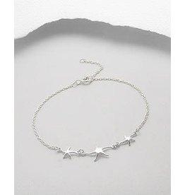 Sterling Bracelet- Triple Starfish
