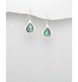 Sterling Sterling Drops- W/Abalone