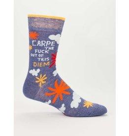 Blue Q Men's Socks- Carpe Diem