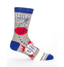 Blue Q Men's Socks-Baseball