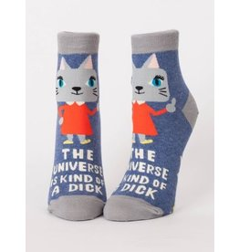 Blue Q Ladies Ankle Socks-Universe is a Dick