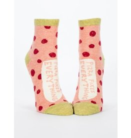 Blue Q Ladies Ankle Socks-Pizza Fixes Everything
