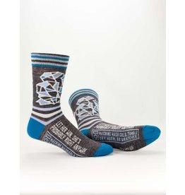 Blue Q Men's Socks-Let Her Win