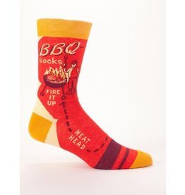 Blue Q Men's Socks-BBQ Socks Fire It Up