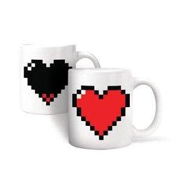 Kikkerland Pixel Heart Mug