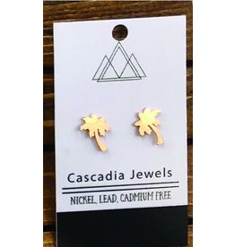 Cascadia Jewels Studs- Palm Trees
