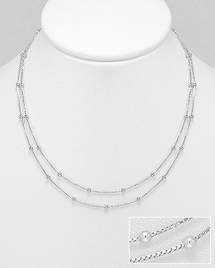 Sterling Double Strand Necklace