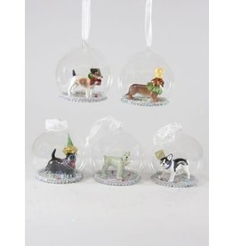 Party Dog Globe Ornaments