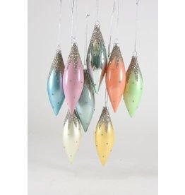 Glittered Snow Cap Ornaments
