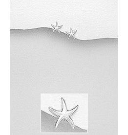 Sterling Sterling Silver Starfish Earrings