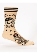 Blue Q Men' Socks-Sorry in Advance