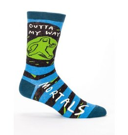 Blue Q Men's Socks-Outta my Way Mortals