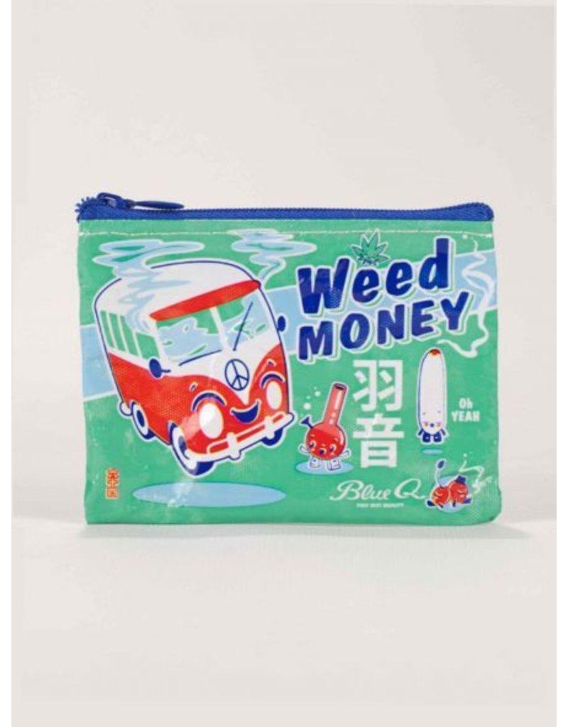 Blue Q Coin Purse-Weed Money