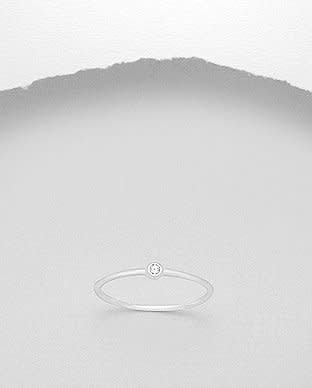 Sterling Sterling Ring- Small CZ