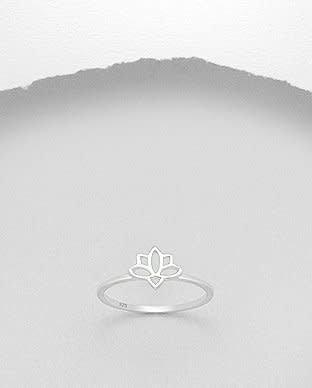 Sterling Sterling Ring-Lotus