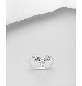 Sterling Sterling Ring- Deer