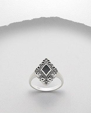 Sterling Sterling Ring- Marcasite Diamond