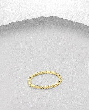 glimmer Gold Ball Ring