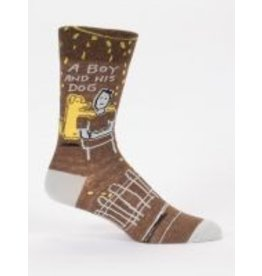 Blue Q Men's Socks- Boy and His Dog