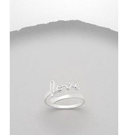 Sterling Ring- Love/ Adjustable