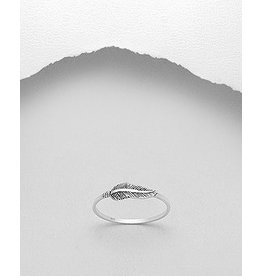 Sterling Ring-  Feather