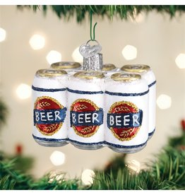 Old World Christmas Six Pack Beer Ornament